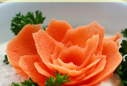 How to make a carrot flower