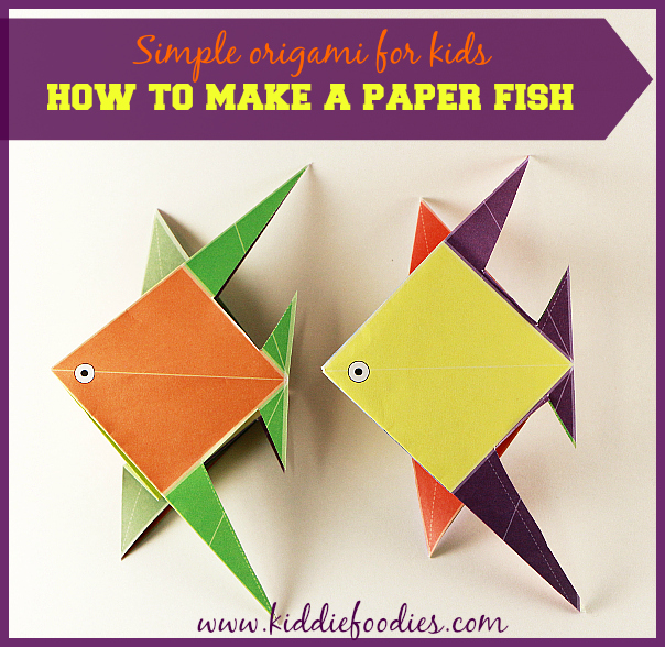 Simple origami for kids how to make a paper fish for How to make fish