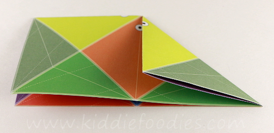 Simple origami for kids - how to make a paper fish tutorial step2a
