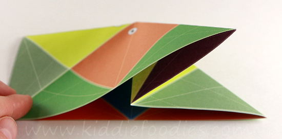 Simple origami for kids - how to make a paper fish tutorial step2b