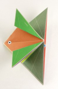 Simple origami for kids - how to make a paper fish tutorial step4a