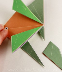 Simple origami for kids - how to make a paper fish tutorial step4b
