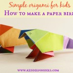 Simple origami for kids - how to make a paper bird tutorial