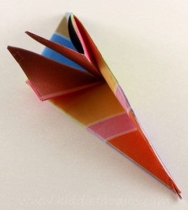 Simple origami for kids - how to make a paper bird tutorial step4a