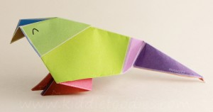 Simple origami for kids - how to make a paper bird tutorial step6