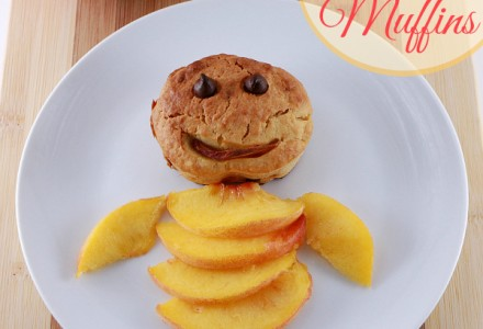 Peach muffins - yummy dessert with peaches