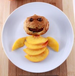 Peach muffins - yummy dessert with peaches step4