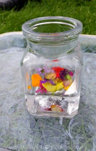 Science Activity Baking Soda and Vinegar Volcano with Flowers step8