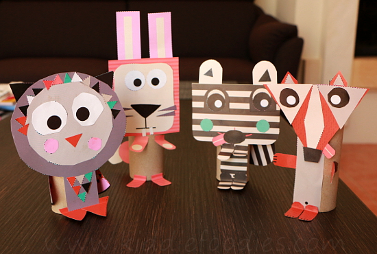 Toilet paper roll animal crafts step7