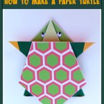 Simple origami for kids – how to make a paper turtle