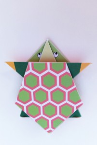 Simple origami for kids - how to make a paper turtle tutorial for main