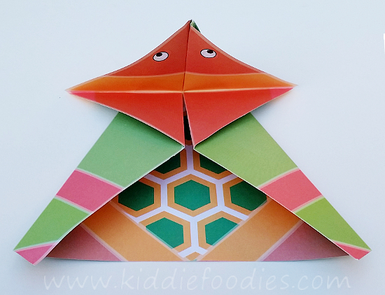 Simple origami for kids - how to make a paper turtle tutorial step3