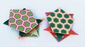 Simple origami for kids - how to make a paper turtle tutorial step6b
