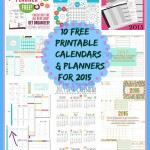 How to get organized – 10 free printable calendars and planners for 2015