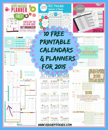 How to get organized - 10 free printable calendars and planners for 2015