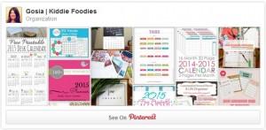 Organization Pinterest board Gosia Kiddie Foodies 2015
