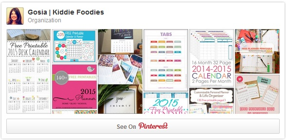 Organization Pinterest board Gosia Kiddie Foodies 2015