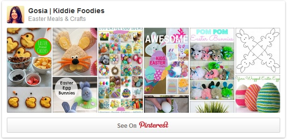 Easter Meals & crafts for kids Pinterest board