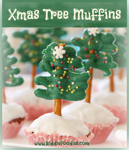 Christmas tree muffins, #muffins, #xmas